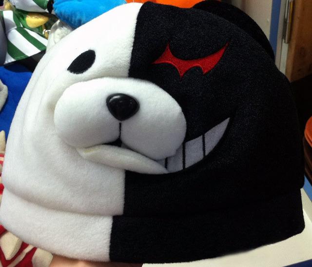 Calentamiento felpa Danganronpa monokuma blanco y negro sombrero de oso 2 versión