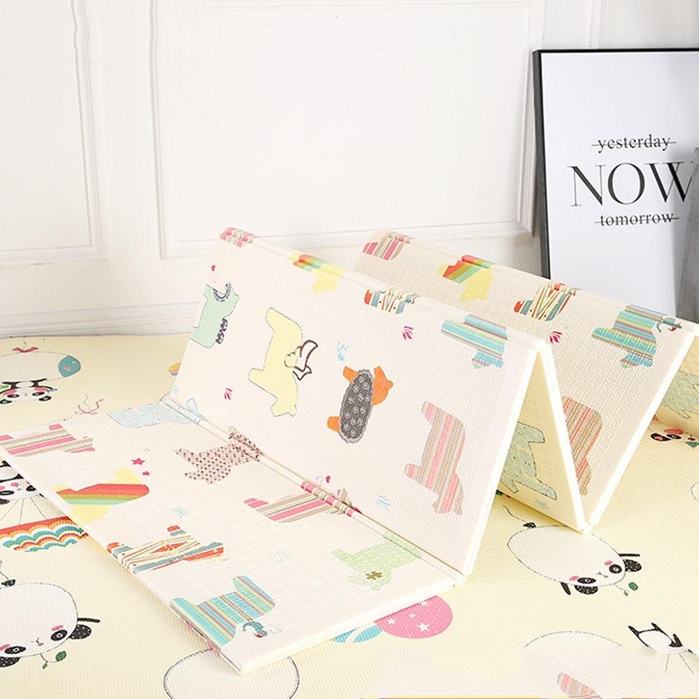Extérieur 180*200 cm brillant bébé jouer tapis XPE Puzzle enfants tapis épaissi bébé chambre ramper Pad pliant tapis bébé tapis