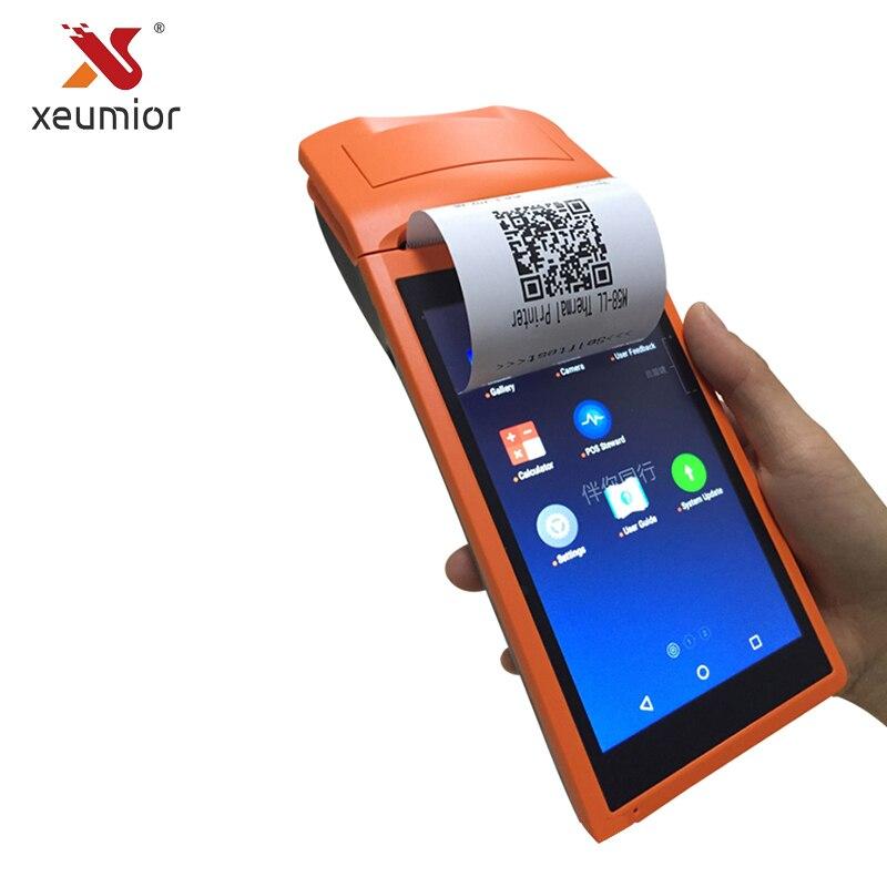 Xeumior SM-V1S Android 3G Système Pos 5.5 Pouces Affichage Mobile De Poche Imprimante Smart POS Terminal Avec Imprimante Sans Fil Bluetooth