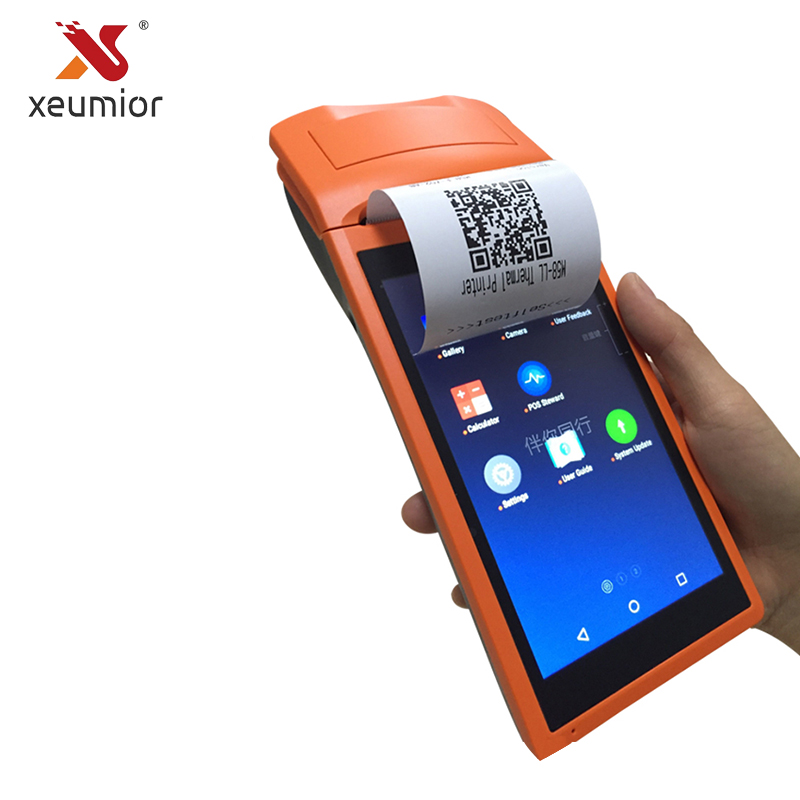 Xeumior SM-V1S Android 3g Système Pos 5.5 pouce Affichage Mobile De Poche Imprimante Smart POS Terminal Avec Imprimante Sans Fil Bluetooth