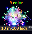 2016 New Year waterproof Garland LED Christmas colourful light string lamp 10 m 100 LEDS 220V with EU connector 8 light modes
