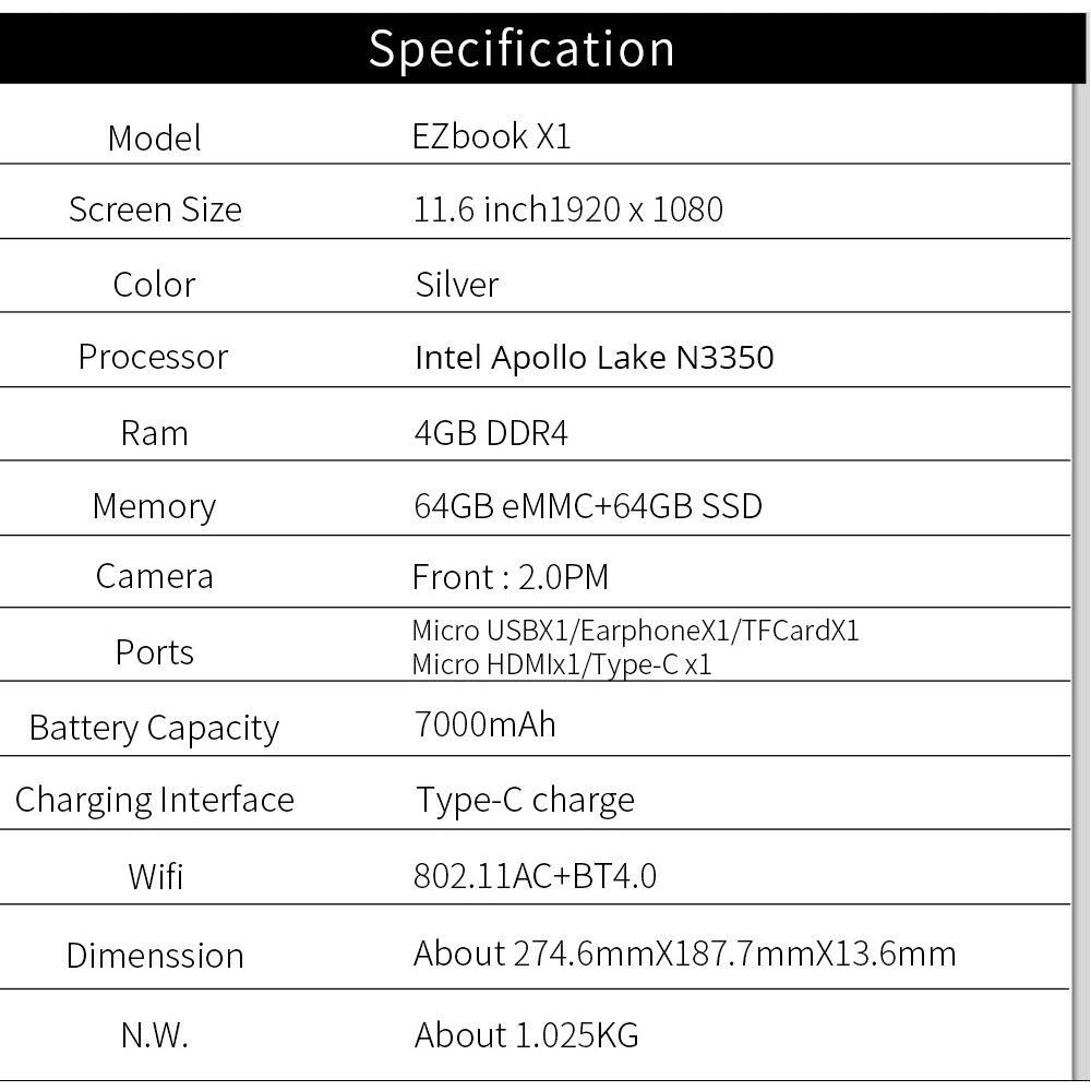 Jumper-EZbook-X1-laptop-11-6-FHD-IPS-Touchscreen-notebook-computer-Gemini-Lake-N4100-4GB-DDR4