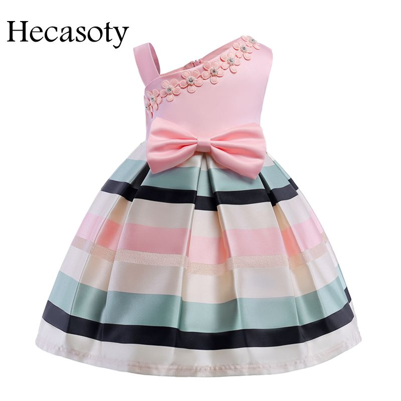 Children Clothes Pearl   Flower     Girl     Dress   Summer Autumn Wedding Birthday Party   Dresses   Children's Costume Teenager Prom Designs