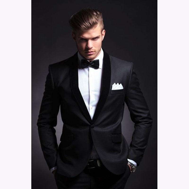 Fashion Men Suit 2019 Slim Fit Men Suits Latest Coat Pant Design Wedding Party Blazer Groom Tuxedos Costume Homme JACKET+PANTS