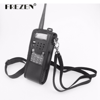 Extended Leather Soft Case For Baofeng UV-5R(3800 mah) TYT TH-UVF9 TH-F8 TH-UVF9D Walkie Talkie with free shipping