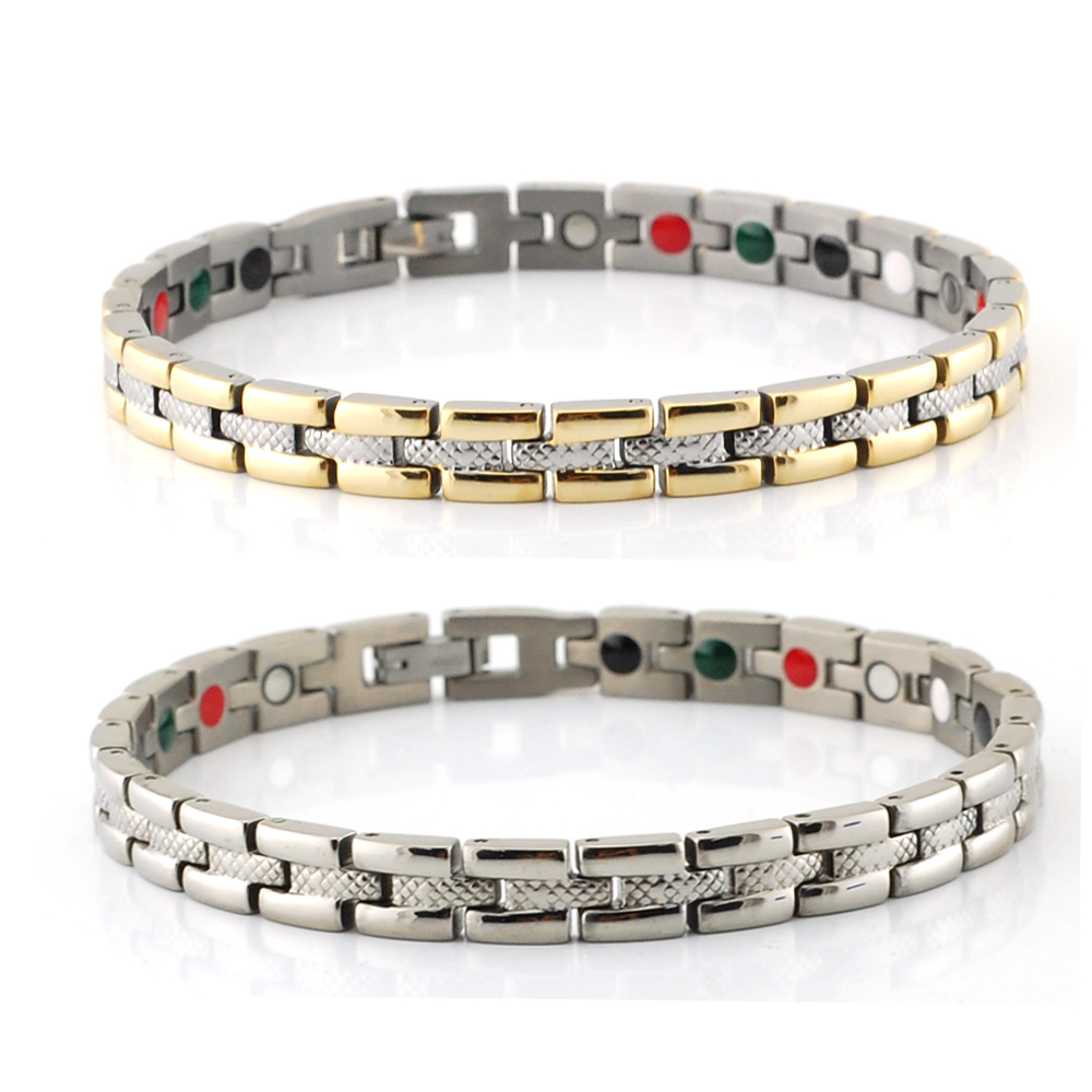 Aliexpress : Buy Wollet 6mm Infrared Germanium Tourmaline Magnetic Bracelets  For Women Jewerly Stainless Steel Bracelet For Women From Reliable
