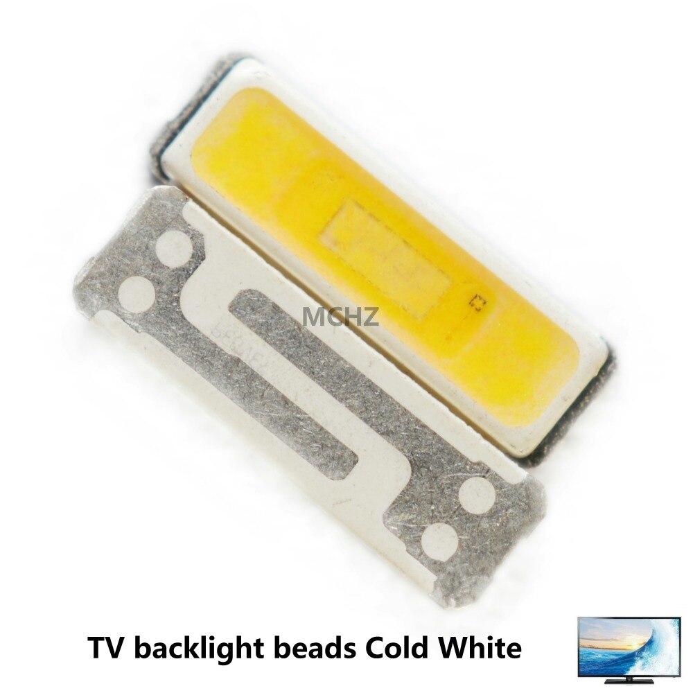 100 pcs Coréia SamSung 7020 TV backlight contas brancas frio 3 V 2 watts 700MA 220LM