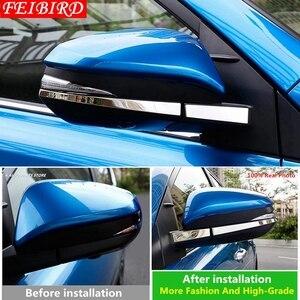 Image 3 - 304 Stainless Steel For TOYOTA RAV4 RAV 4 2014 2015 2016 2017 2018 Side Door Mirrors Rearview Stripe Cover Trim Kit