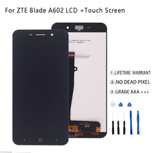 For  ZTE Blade A602 LCD Display Touch Screen Digitizer Phone Parts For ZTE Blade A602 Screen LCD Display Free Tools for zte blade v7 lcd assembly display touch screen replacement for zte v7 phone free shipping