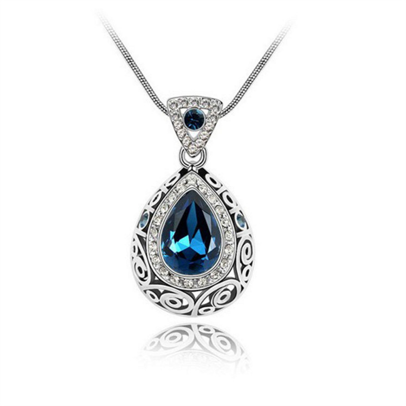 New Christmas Gift Fashion Wholesale Element Noble Gorgeous Crystal Bright Special Guardian Constellation Necklace XL-001