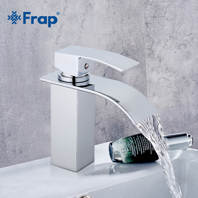 Frap new Bathroom Basin Waterfall Faucet Chrome Black Finish Brass Hot Water Single Handle Vessel Basin Tap Mixer Tornei Y1001-1 free shipping polished chrome finish new wall mounted waterfall bathroom bathtub handheld shower tap mixer faucet yt 5333
