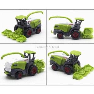 Image 3 - 4 מתוך 1 מגרשים חדשים מתכת + סגסוגות ABS דגמי משאיות חקלאיות, מכוניות חקלאיות יציקות רכב צעצועים: קציר אורז תירס טרקטורים דחפורים