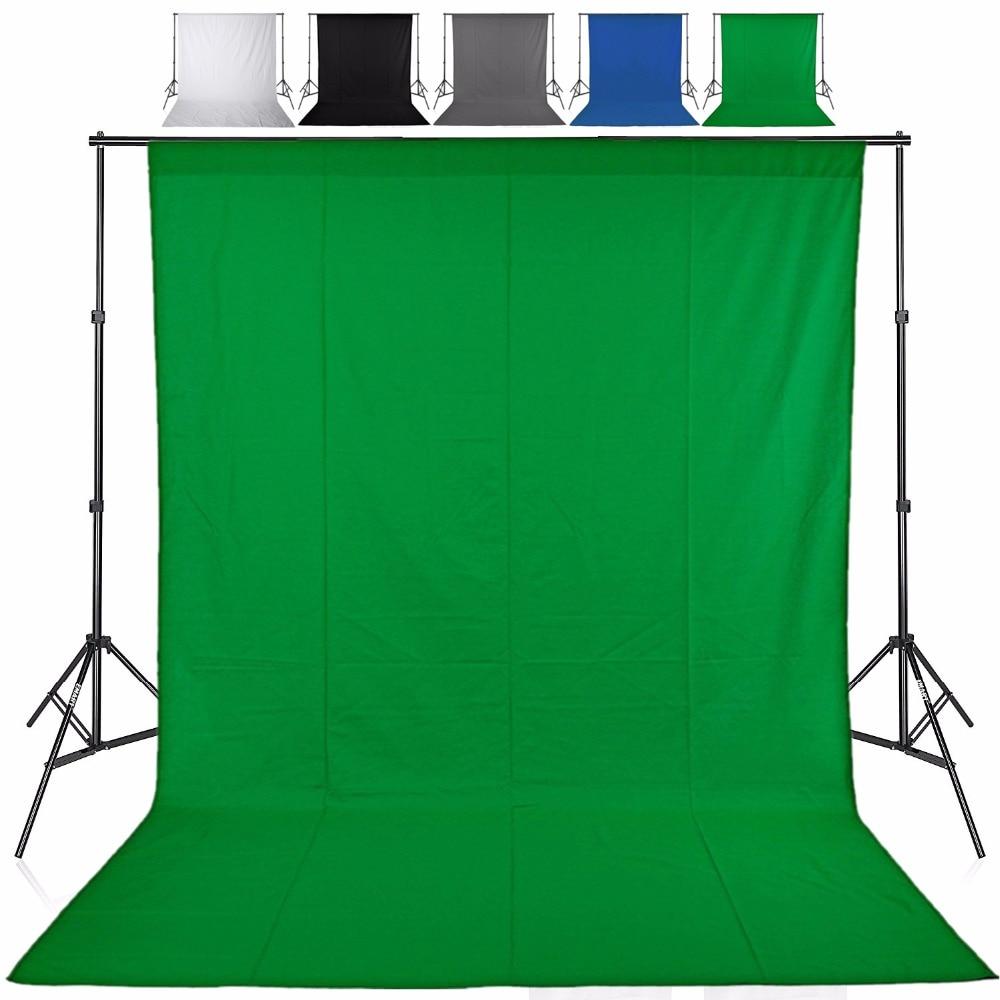1.6X1/2/3/4M Green Screen Photo Background Photography Backdrops Backgrounds Studio Video Nonwoven Fabric Chroma Key Backdrop