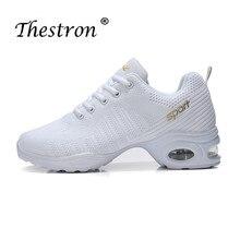 Thestron 2019 Brand Square Dance Salsa Dancing Shoe Size 35-41 Sneaker Woman Black White Practice Sports