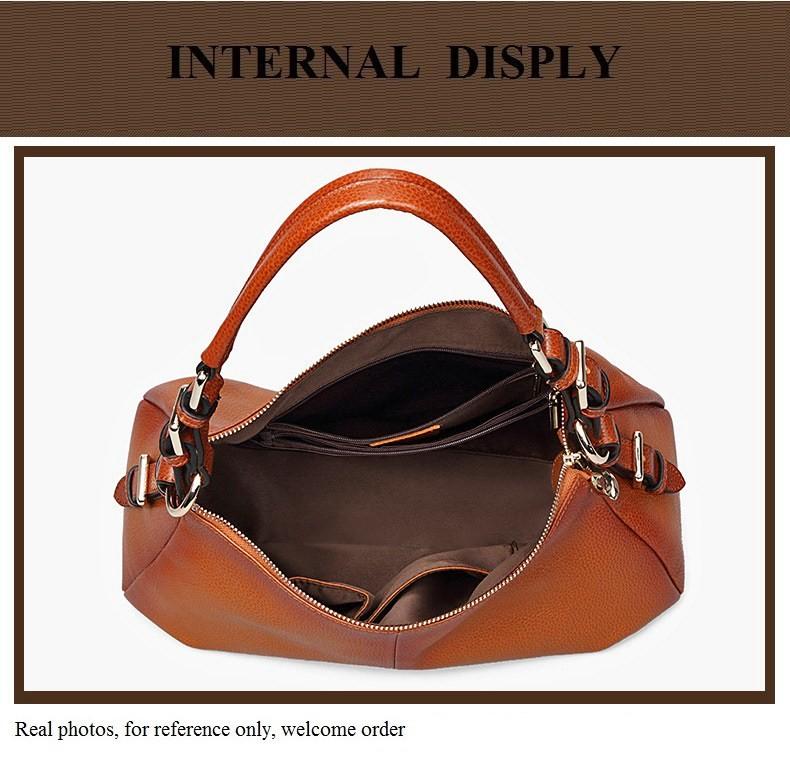 Ladies Handbags 2016 New Womens Bags And Purses Solid Women Leather Shell Bag Bags Zipper Retro Designer Handbags High Quality_047