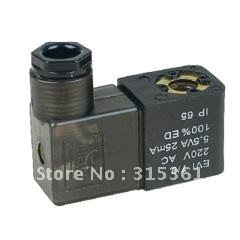 Free Shipping 4V Series Solenoid Coil DIN43650B Connector 8mm Dia. AC220V,AC110V,DC12V,DC24V 4 Options free shipping repairing part 3 pin din plug led solenoid valve connector ac 220v