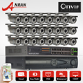 9TB HDD 24CH NVR Security CCTV Kit Onvif 2.0MP 1080P HD COMS Sensor Outdoor Varifocal 2.8-12mm Lens 78IR Network IP Camera Kit