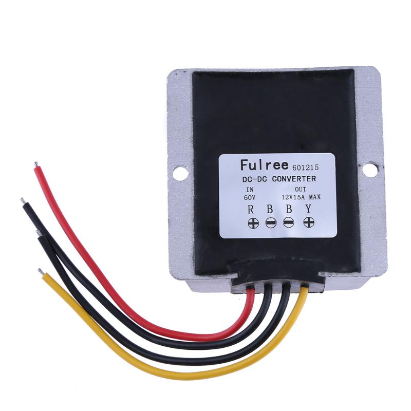 Waterproof DC-DC Step Down Converter Reducer 60V to 12V 5A Buck Module Car Power Converter Regulator