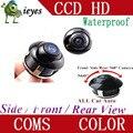 Ccd 360 frente Car / Side / Rear View Camera reversa Fit Universal para todos os