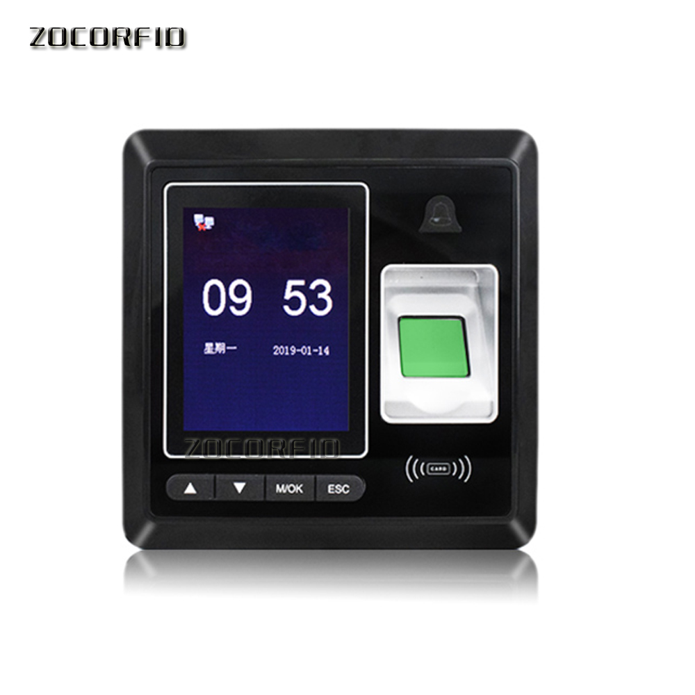 Boometric Fingerprint Door Access Control Color Screen Time Attendance With 125KHZ RFID Card Reader