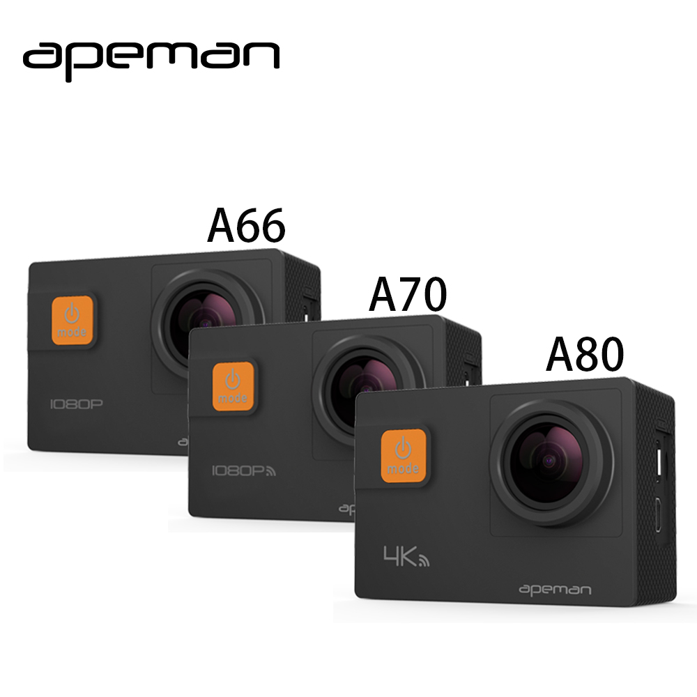 Apeman Action Camera A66 A70 A80 4K 1080P hd Waterproof font b Sport b font Helmet