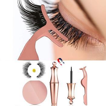2019 New Hot Magnetic Liquid Eyeliner & Magnetic False Eyelashes Waterproof Long Lasting Eyeliner False Eyelashes with Tweezer
