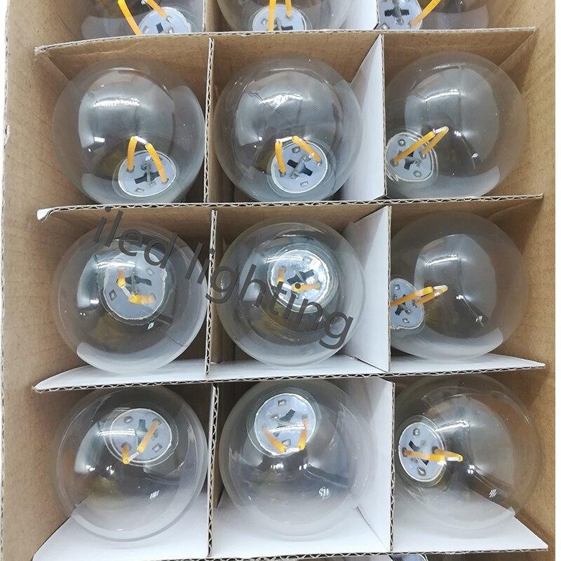 48 pieds 14.4 M extérieur résistant aux intempéries festoon party E27 string light avec 15 prises suspendues S14 2W ampoule LED inclus - 3