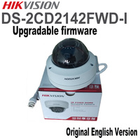 Hikvision Original English Version Security Camera DS 2CD2142FWD I 4MP WDR Fixed Dome IP Camera IP67 POE CCTV Camera