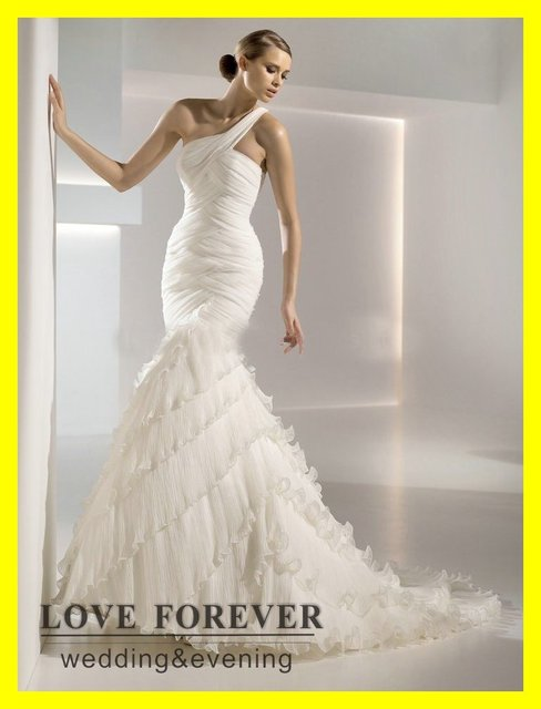 US $219.0 |Informal Plus Size Wedding Dresses Nicole Miller Dress Casual  Summer Hippie Mermaid Floor Length Sweep/Brush Train 2015 On Sale-in  Wedding ...
