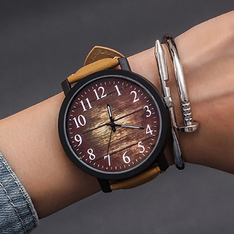 Fashion Wrist Watch Women Watch Ladies Quartz Wristwatches For Woman Clock Female Hours Hodinky Montre Femme Large Dial PU(China)