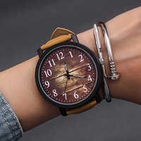Fashion Wrist Watch Women Watch Ladies Quartz Wristwatches For Woman Clock Female Hours Hodinky Montre Femme Large Dial PU