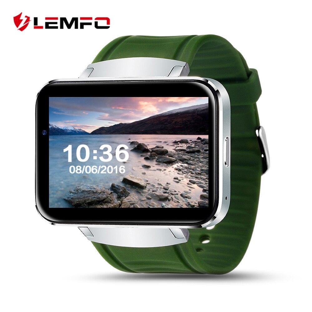 Surpresa! LEMFO LEM4 SISTEMA OPERACIONAL Android telefone do Relógio Inteligente GPS apoio cartão SIM MP3 bluetooth WI-FI smartwatch para apple ios android os