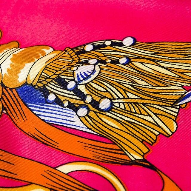 [POBING]100% sergé soie carré foulards grande taille Foulard conception originale espagne chaîne Foulard Hijab châles envelopper femme Bandana