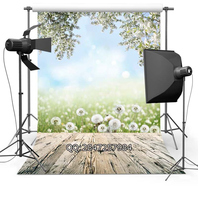 Thin Vinyl photography background Customize spring flowers  Backdrops Digital Printing Background for photo Studio F-2335
