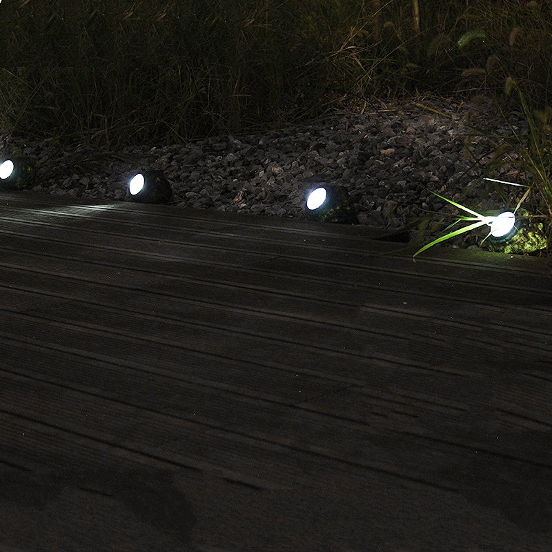 LED Panel Solar Stone Lawn Lights Waterproof Path Outdoor Garden Lamp New Year Christmas Garland Luminaria Decorative lighting