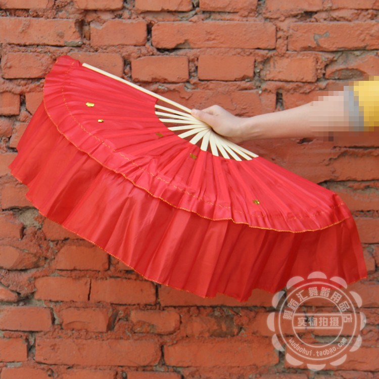 Sportswear double line dance fan fitness yangko fan square dance fan dance props wholesale dhl ship