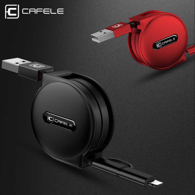CAFELE 3 Style 100cm retractable USB fast charging Cable for iPhone X Xs Max 8 7 6s plus micro type-c for huawei Samsung xiaomi