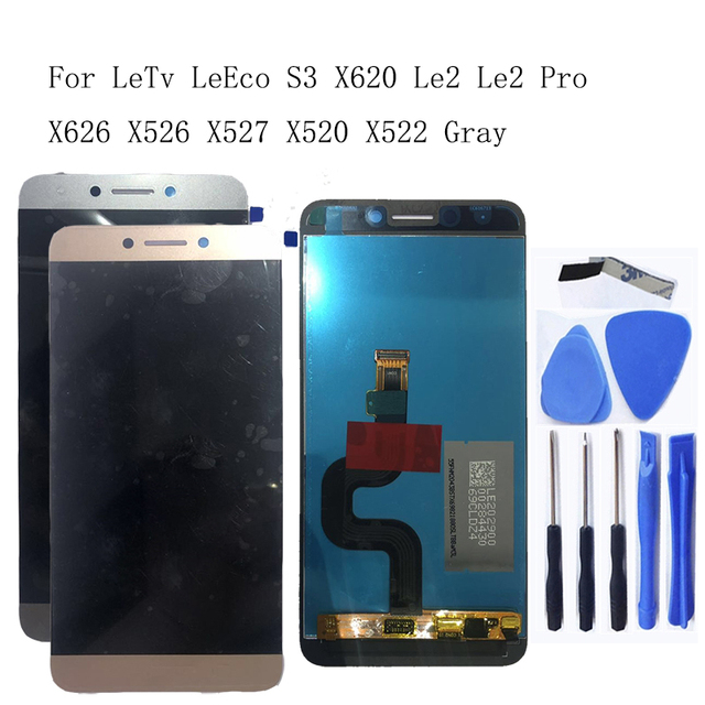 """For LeTV LeEco Le 2 Pro 5.5 """"Original LCD touch screen replacement for X527 X520 X522 X620 Leeco Le S3 X626 LCD repair kit"""