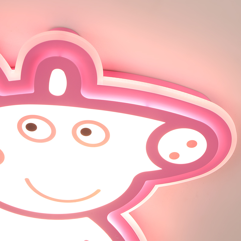 Cartoon Piggy Patch George Kids Room chandelier Lights Baby chandelier lighting with pink blue for boys girls bedroom fixtures