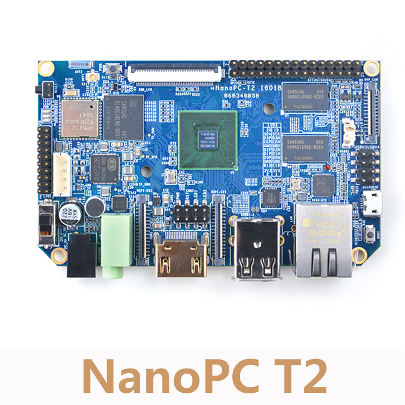 NanoPC T2 A9 Quad Core Development Board S5P4418 Card Computer Onboard WiFi Bluetooth Ubuntu Android 1G DDR3 AXP228 PMU NP018