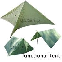 3*3 m uv bảo vệ di động dễ dàng mang theo cắm trại ngoài trời đi bộ đường dài đa chức năng lều quân xanh orange kaki nơi trú ẩn mặt trời mái hiên lều