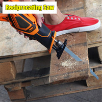 Drillpro 20V 3000mAh Rechargeable Reciprocating Saw Wood Cutting Saw Electric Wood Metal Plastic Saw