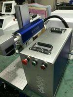 Портативный дизайн 20 Вт мини волокна лазерная маркировочная машина для нержавеющая сталь Материал металл