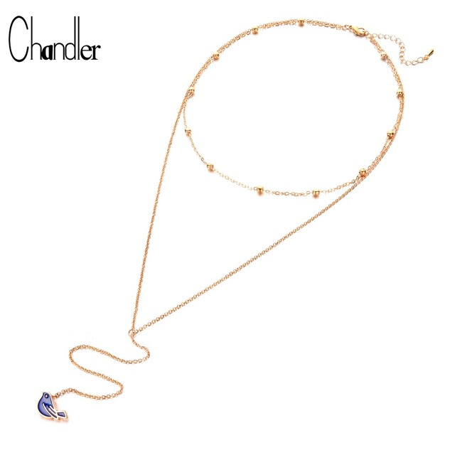 Chandler Hot Accessories in Europe and America 70 cm Long Tassel Bird  Pendant Necklaces Delicate Women 59c7e9e78a