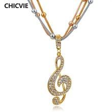 Chicvie винтажное массивное ожерелье из хрустальных бусин золотого
