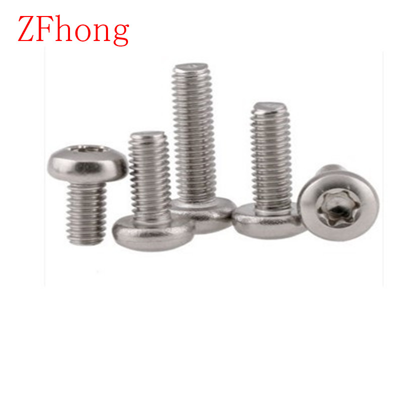 100PCS  m3*4/5/6/8/10/12/14/16/20/25/30 m3  torx pan head machine screw stainless steel 304 50pcs iso7380 m3 5 6 8 10 12 14 16 18 20 25 3mm stainless steel hexagon socket button head screw
