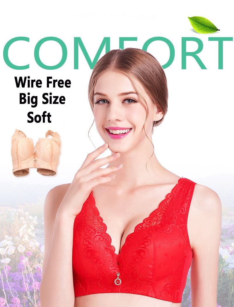 c3e3f8f9f2c65 Non Padded Push Up Brassiere For Women Thin Big Size 46   105D Cup Vest  Style Non Wire Bra Free Shipping