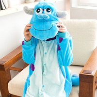New flanelle de noël Sulley Sullivan Onesies Pyjamas Cartoon Cosplay Costume pyjama Party Animal Pijamas