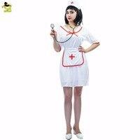 Dorosłych Uwodzicielski Lekarz Pielęgniarka Kostiumy Biały Sexy Sukienka Cosplay Anime Halloween Party Kostiumy Kostiumy Dla kobiet