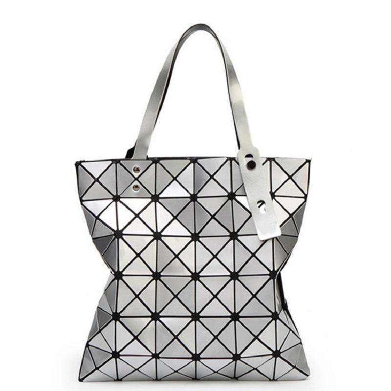 Fashion Handbags Geometric Type Womens Handbag Women Bags 2016 Large Capacity Female Shopping Bag PU Soft Designer Shoulder Bag